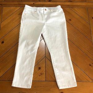 INC denim white crop jeans